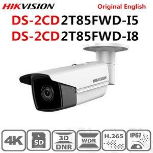 Image 1 - Камера видеонаблюдения Hikvision H.265 + POE, оригинальная инфракрасная камера с фиксированной цилиндрической камерой, 8 МП (4K), на английском языке, с разрешением от 50 м до 80 м, с функцией POE