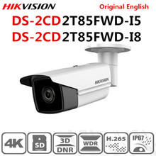 Hikvision Originale Inglese DS 2CD2T85FWD I8 DS 2CD2T85FWD I5 8MP (4 K) IR Fisso Pallottola Telecamera di Rete H.265 + POE IR Gamma 50 m 80 m