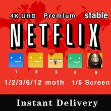 Netflijes-Premium 4K, UHD, envío rápido (Sha/PEI), 100%, estable en todo el mundo, Acc