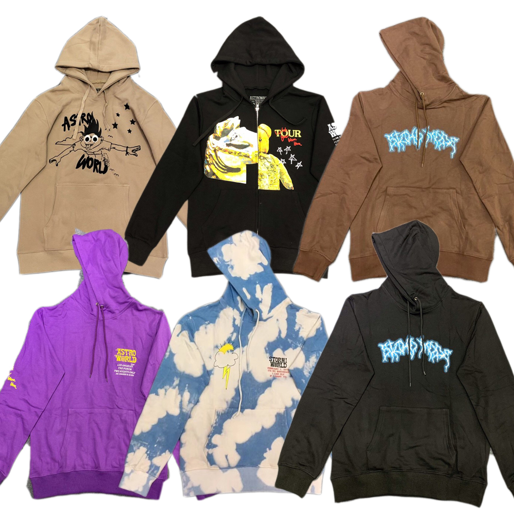 19FW TRAVIS SCOTT ASTROWORLD TOUR SICKO MODE HOODIE Women Men High Quality Sweatshirt Men ASTROWORLD Hoodie Pullover