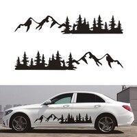 2pcs Forest Vinyl Graphic Car Sticker Decal Tree Mountain for Camper RV Trailer Truck Custom Sticker