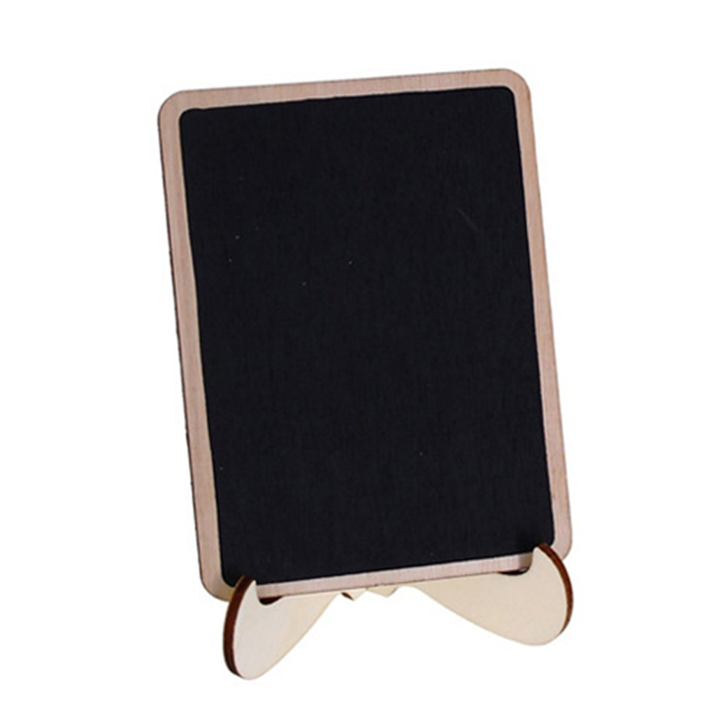5pcs Wooden Stand Style Message Boards Blackboard For Wedding Party Labels