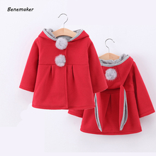 Benemaker Children's Windbreaker for Girls Baby Jackets Hood