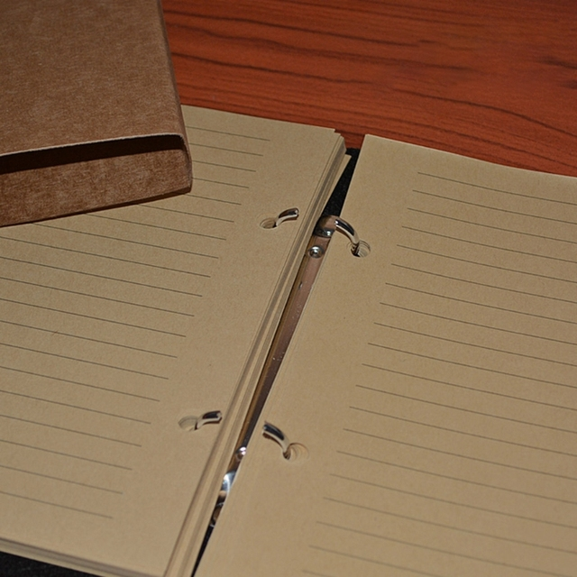 Retro Travel Notebook with Lock Key Diary Planner Journal Notepad Kraft Paper 3