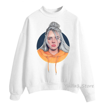sudadera mujer 2019 Billie Eilish Hoodies women sweatshirt vogue funny character print Hoodie harajuku oversized hoodie tracksuit sweat femme