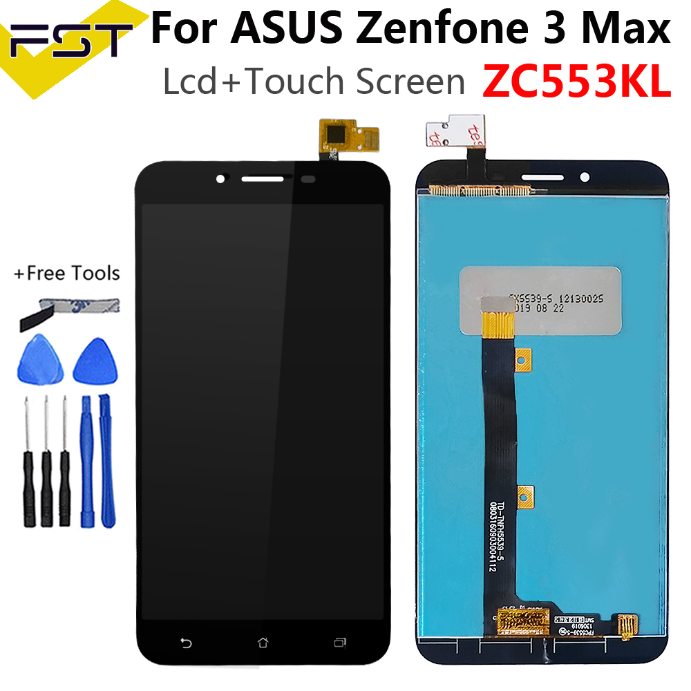 5.5''For <font><b>ASUS</b></font> Zenfone 3 Max <font><b>ZC553KL</b></font> LCD Display <font><b>Touch</b></font> <font><b>Screen</b></font> Assembly Digitizer with Frame For <font><b>ASUS</b></font> <font><b>ZC553KL</b></font> X00DD LCD image