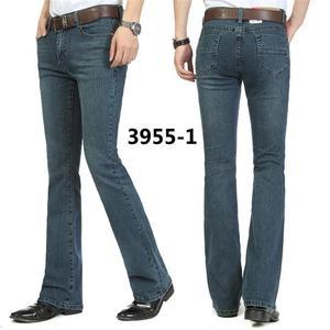 Image 3 - משלוח חינם זכר פעמון תחתון ג ינס מכנסיים slim שחור צופר אתחול לחתוך ג ינס בגדי גברים מזדמנים עסקים אבוקות מכנסיים 36