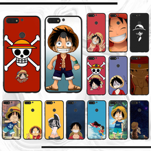 One Piece Anime Monkey D. Luffy Black TPU Soft Phone Case Cover For honor Y6 2018 8 x 9 lite 10 view(China)