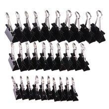 10 pcs preto metal binder clipes notas carta clipe de papel ligação fixação clipe