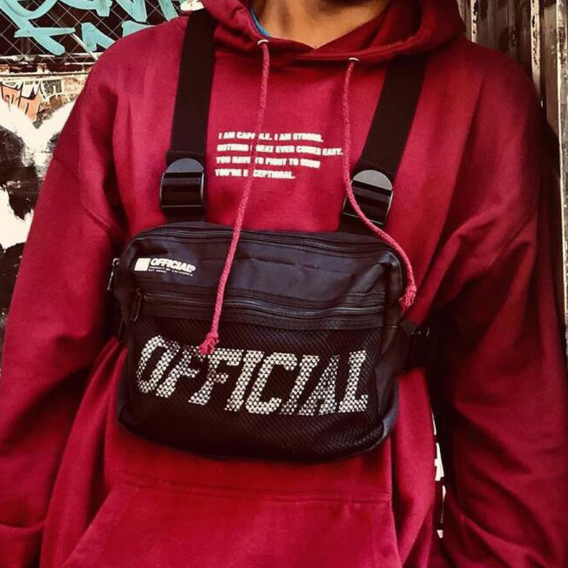 Streetwear Men Bag Tactical Vest Hip Hop Style Crossbody Chest Bags Packs For Women 2019 Fashion Punck Chest Rig Vest Waist Bag