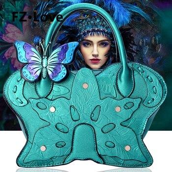 Women's Shoulder Bag Handbags Tote Purse PU Leather Wristlets Satchel Crossbody Bags 3D Butterfly Flower Top Handle Bags Party