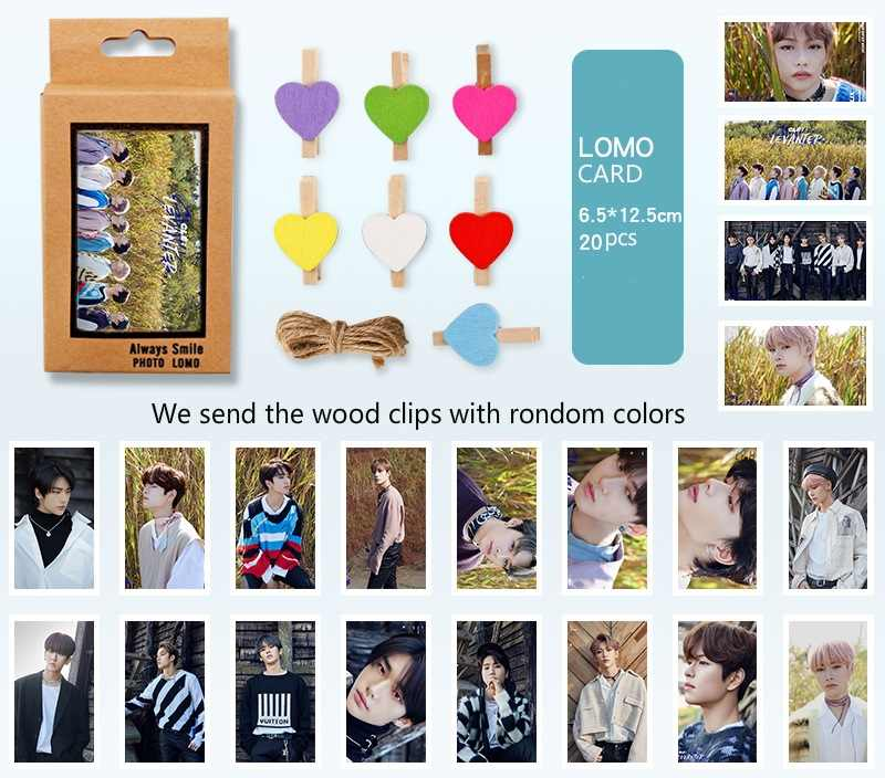 [Mykpop] Straykids [Levanter] Lomo Card 20 Stks/set Met Clips Kpop Bangtan Fans Collection SA19122101