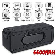 20/30/40/50w coluna alto-falante portátil ipx7 subwoofer à prova dipágua com 360 som estéreo alto-falante ao ar livre boombox