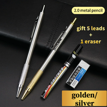 Metal 2.0 Mechanical Pencil Low center of gravity Students draw and write pens Replaceable pencil lead