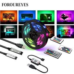 Bande RGB USB 5V bricolage colorée 30LED S/M, SMD 5050, Flexible, Bluetooth, 3/17/24/44 touches, étanche, rétro-éclairage de télévision Led