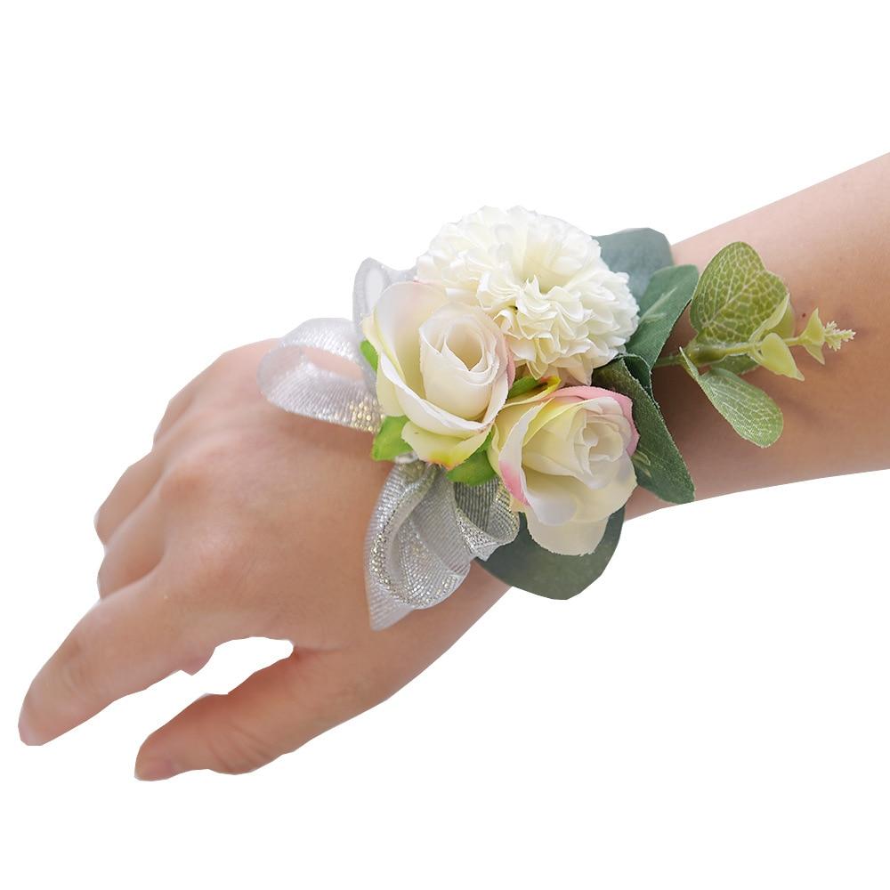 Wrist Corsage Bracelet Bridesmaid Wedding Flower Bracelet Wedding Accessories Artificial Flowers Bride Party Decor Bridal Prom