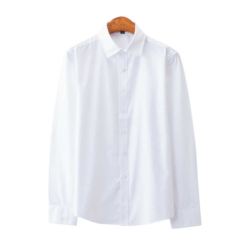 새로운 고품질 100% 코 튼 남자 옥스포드 셔츠 긴 소매 공식적인 비즈니스 스마트 캐주얼 셔츠 사회 단추 다운 드레스 셔츠
