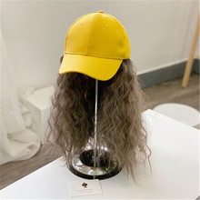 Baseball-Cap Winter Fashion with Curly Black Synthetic Children for Heat-Resistant-Fiber
