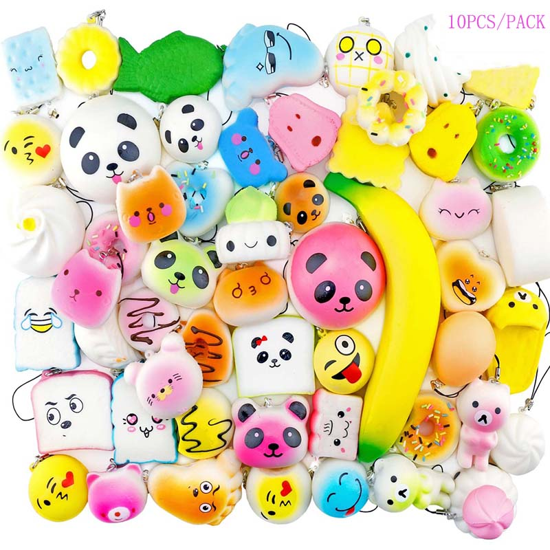 Squishy Fruit Watermelon Slice Smiley Emoji Faces Kawaii Squishies Slow Rising Squeeze Stress Reliver Toy Children Kids Gift Toy