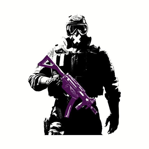 1PCs Cartoon Sunglasses Black Rainbow Six Siege Stickers  Kids Toys Book Decorative Sticker  Car Guitar Refrigerator Stickers
