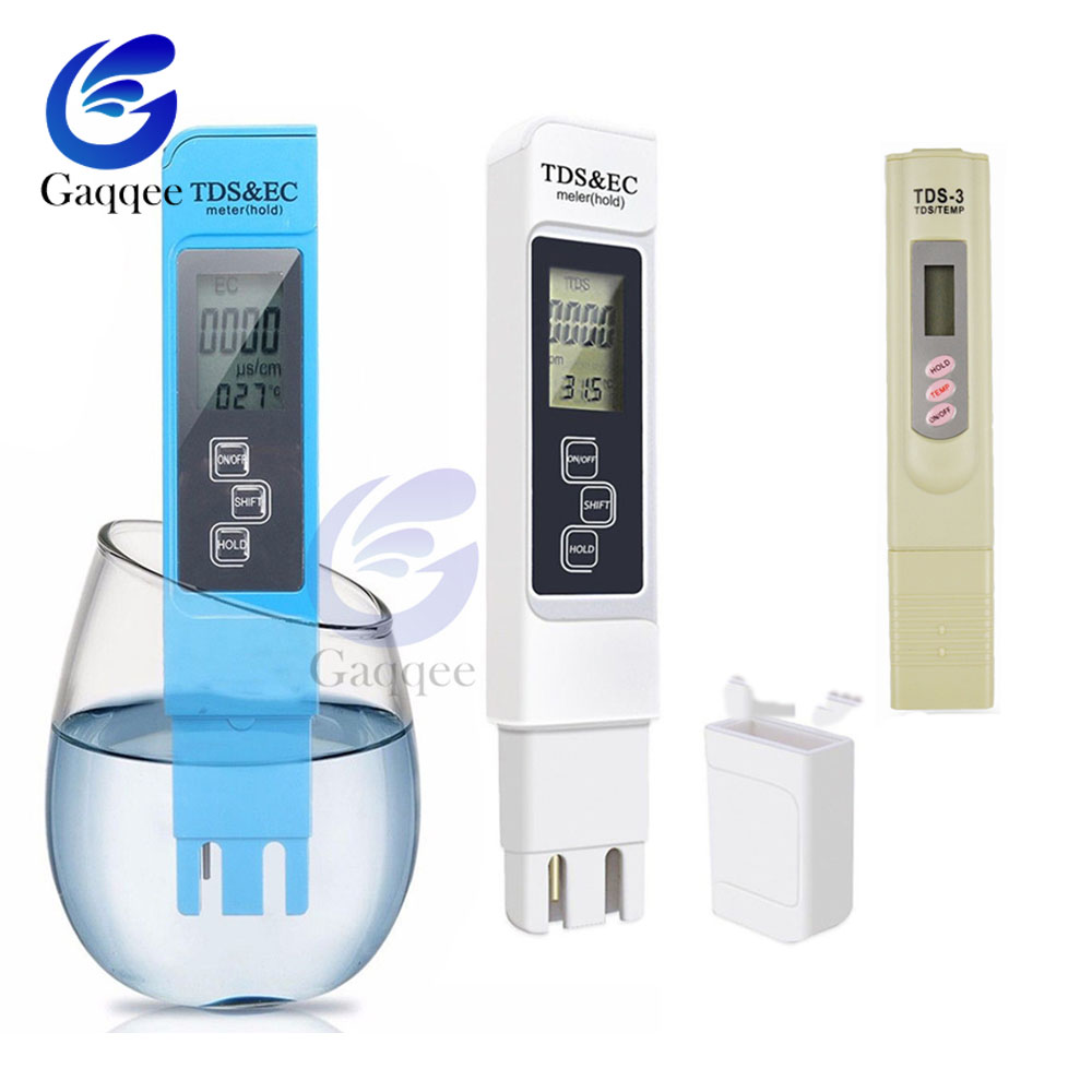 3 In1 TDS EC Meter Temperature Tester Pen Conductivity Water Quality Thermometer Measurement Tool TDS&EC Tester 0-9990ppm