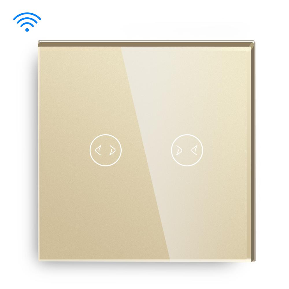 Image 5 - BSEED Wifi  Smart Curtains Switch Wireless Wifi Switch White Black Golden Colors Support For Tuya Google Assistant-in Switches from Lights & Lighting