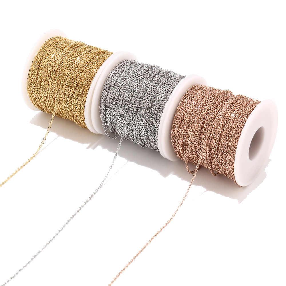 2 meter Edelstahl Rose Gold/Gold Link Kette Halskette Groß Kabel 2mm Breite für Schmuck, Die Entdeckungen DIY Liefert