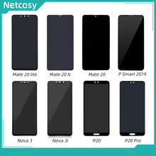 Netcosy LCD Display Touch Screen Digitizer Assembly For Huawei P20 Pro Mate 20X 20 Lite Nova 3 3i P Smart 2019 Full LCD Screen