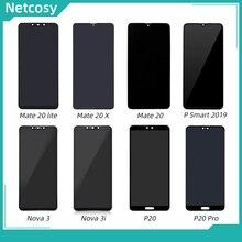 Netcosy LCD écran tactile numériseur assemblée pour Huawei P20 Pro Mate 20X 20 Lite Nova 3 3i P Smart 2019 plein écran LCD