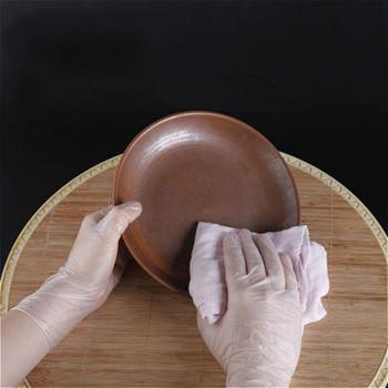 Jednorazowe rękawice przezroczyste rękawice z pvc pieczenie w kuchni rękawice rękawiczki do mycia naczyń piękno Film rękawice rękawice do mycia tanie i dobre opinie 70g Średni latex Czyszczenie Silikonowe