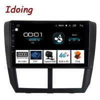 "Idoing 1Din 9 ""Radio de coche GPS reproductor Multimedia Android auto para Subaru Forester 2008-2012 4G + 64G Octa Core navegación arranque rápido"