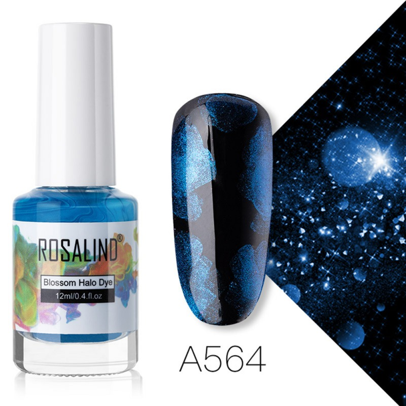 Sale Chance for  Watercolor Ink Liquid Nail Polish Gel Glitter Blossom Gel Effect Manicure Nail Art Nail Treatment N
