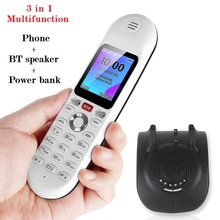 3 in 1 Mutlifunction Mobile Phone BT 5.2 Stereo Speaker Powerbank Blacklist SOS Emergency Help Fast Call Dual Sim Novel Design