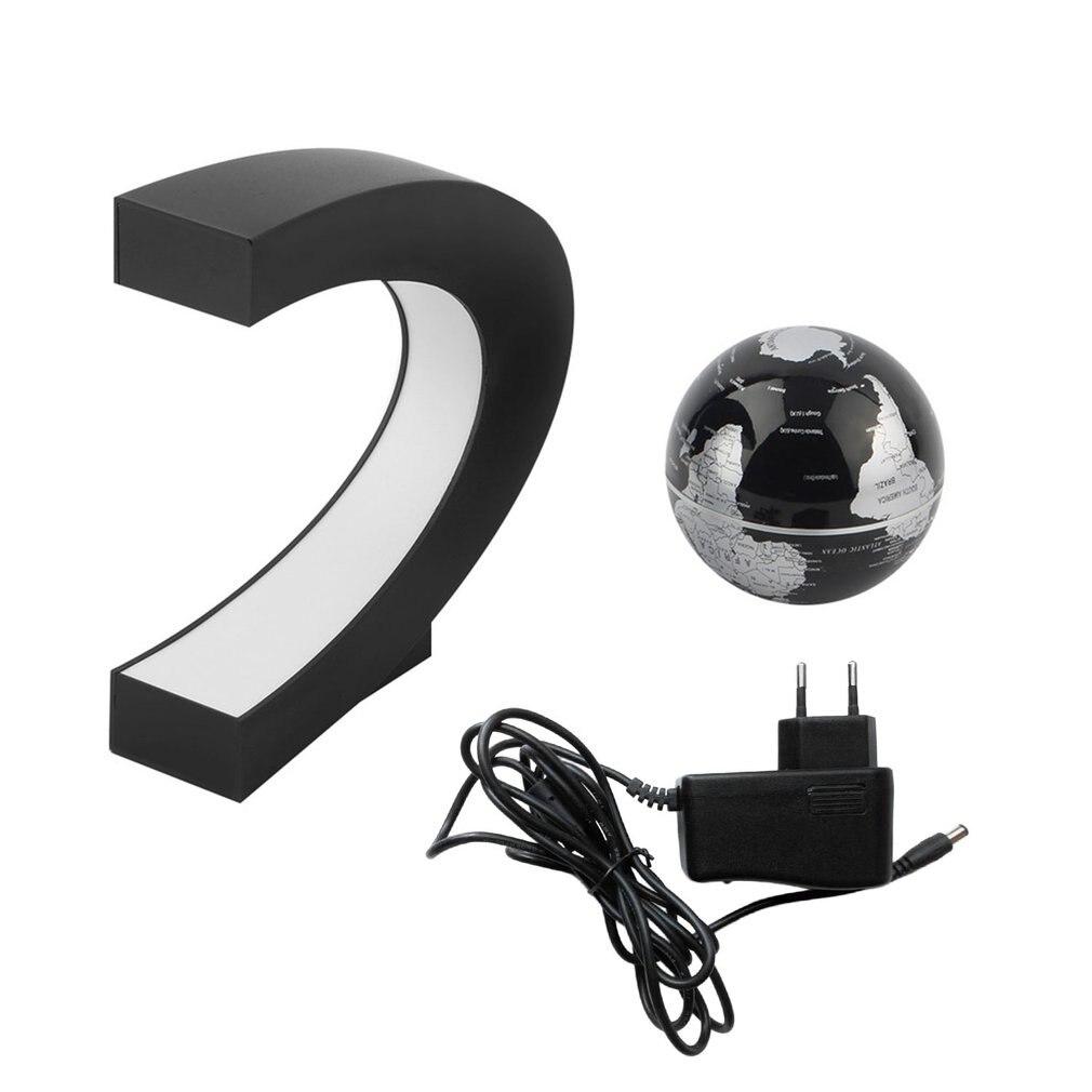 C Forma LED mapa del mundo decoración levitación magnética flotante globo escolar suministros de Geografia enseñanza niños juguetes de aprendizaje