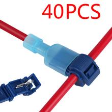 40Pcs T-Tap Wire Connectors Quick Electrical Cable Connectors Snap Splice Lock Wire Terminals Crimp Hand Tool Set cheap Fbiannely Pliers 20pcs
