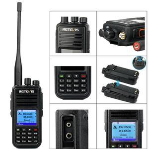 Image 3 - DMR dwuzakresowy Retevis RT3S cyfrowe Walkie Talkie (GPS) VHF UHF Radio DMR Amador szynki nadajnik odbiornik radiowy 2 Way Radio + akcesoria