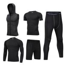 2021 Мужские Спортивные Компрессионные костюмов тренировочный