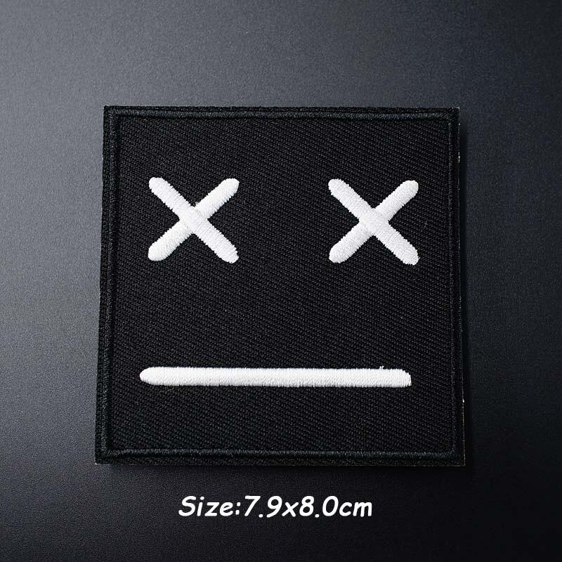 Черно-белая ткань для экспрессии Mend украшает утюжок на патч одежда шитье украшения аппликация вышивать на пачках для одежды - Цвет: T
