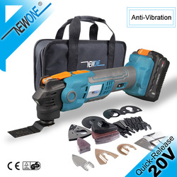 20V Quick-Release Oscillating Multitool Anti-Vibration Variable Speed Trimmer Renovator Electric Saw With Saw Blades Kit NEWONE