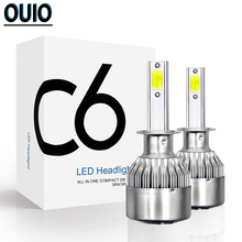 6000K H1 Led Lens H3 H4 LED H7 H8 H11 HB4 HB3 Auto C6 Car Headlight Bulbs LED 72W 8000LM Car Lights 12V Headlamp Fog Light Bulb цена и фото