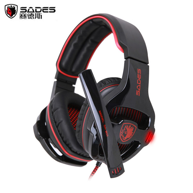 SADES SA-903 Gaming Headset 7.1 Surround Sound channel USB Wired Headphone with Mic Volume Control Best casque for Gamer 2