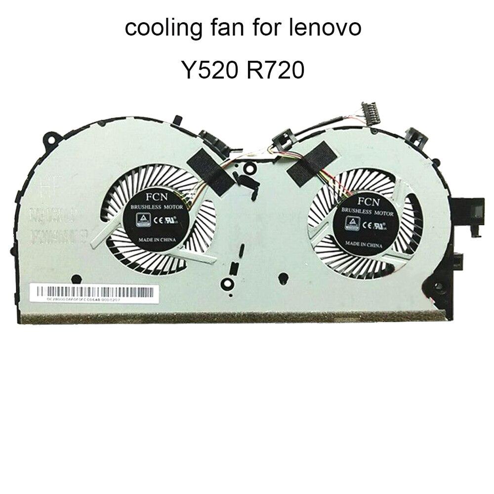 Компьютерные вентиляторы охлаждения процессора вентилятор для Lenovo Легион Y520-15IKBA Y520-15IKBM Y520 R720 15ikbn кулер ноутбука частей 8 PIN по доступной цен...