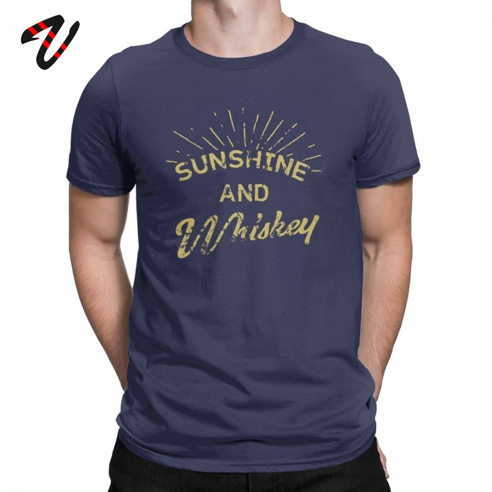 Men T Shirt Sunshine And Tennessee Tops Whiskey Drinking Gift Tshirt Single Malt Tees Crewneck Clothing Cotton Plus Size T-Shirt image