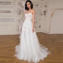 Женское свадебное платье с кружевной аппликацией verngo Пляжное