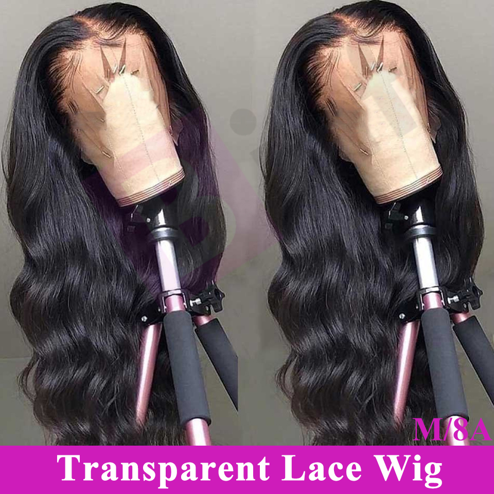 Binf Lace Front Human Hair Wigs Transparent HD Lace Frontal Wig 150% Density Lace Front Wig Remy 13x4 Brazilian Body Wave Wig