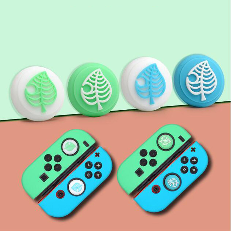 Animal Crossing Cat Paw Cute Pad Thumb Stick Grip Cap Joystick Cover For Nintendo Switch Lite Joy-Con Controller Thumbstick Case(China)