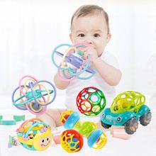 Brinquedos do bebê 0 12 meses chocalho bola seguro recém-nascido chocalho brinquedos do bebê macio silicone mordedor educacional chocalho brinquedos presentes