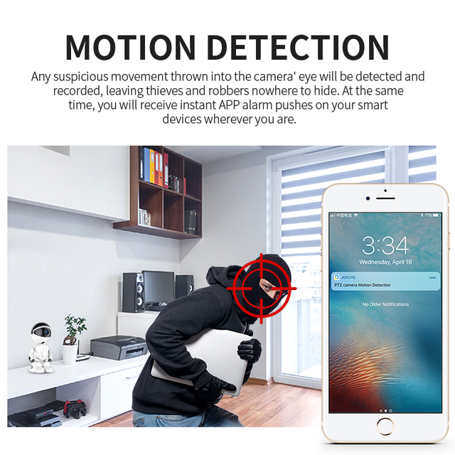 1080P Smart Robot IP Camera Wireless Baby Monitor Motion Detection Night Vision Home Security Two Way Audio mini wifi camera