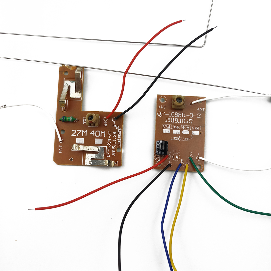 4CH <font><b>40MHZ</b></font> <font><b>Remote</b></font> Transmitter & Receiver Board with Antenna For DIY RC Car Vehicle Robot Truck Boat <font><b>Remote</b></font> <font><b>Control</b></font> Toy Accessory image
