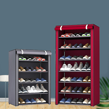 Multi-layer Simple Shoe Cabinet DIY Assembled Space-saving Shoe Organizer Shelf Home Dorm Storage Closet Dustproof Shoes Rack 1